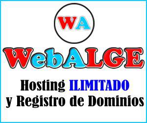 WebALGE - Hosting Ilimitado y Registro de Dominios